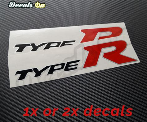 R Car Sticker by Honda Type R Decals Decalson Awesome Car Stickers Decals