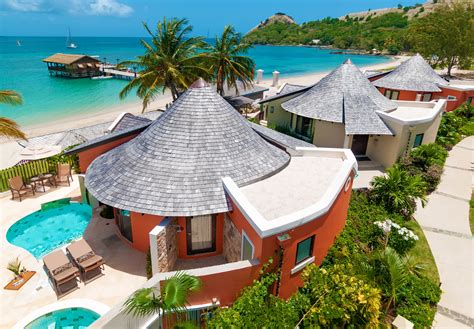 the water bungalows sandals sandals grande st lucian spa resort designer travel