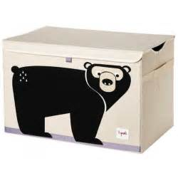 Black Toy Chest 3 Sprouts Toy Chest Black Bear