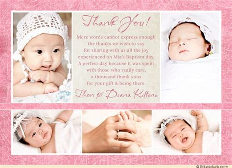 christening thank you card template 17 best ideas about baptism thank you cards on