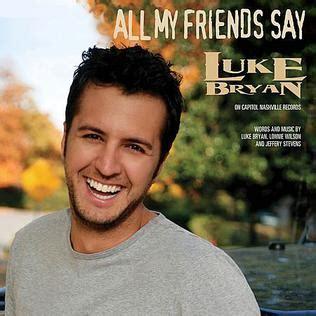 luke bryan first album all my friends say wikipedia