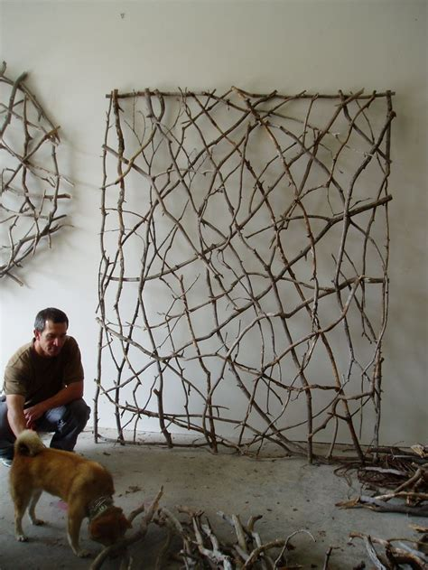 backyard wall art twig woven wall sculpture by paul schick weaving with
