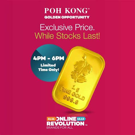 poh kong new year promotion poh kong 11 11 revolution sale fashion
