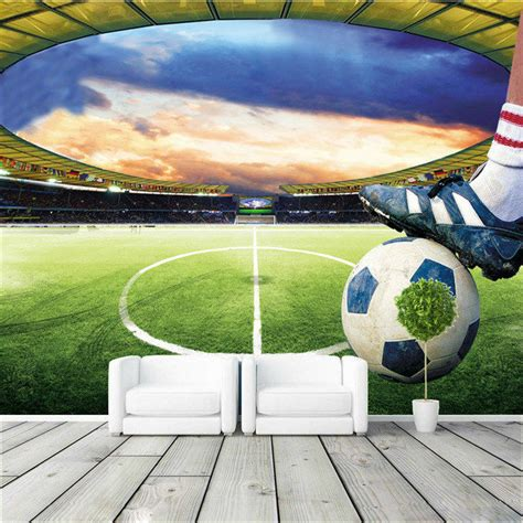 soccer murals for bedrooms football stadium wall mural customize photo wallpaper