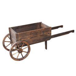 wood wagon planter at mygofer com