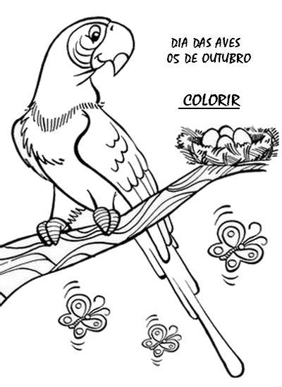 ATIVIDADES DIA DAS AVES EXERCÍCIOS DESENHOS COLORIR