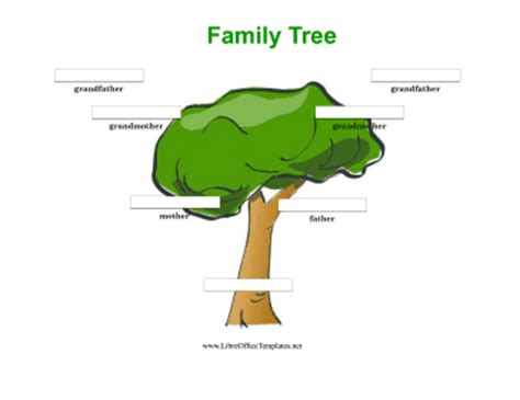 3 generation family tree template word colorful 3 generation family tree