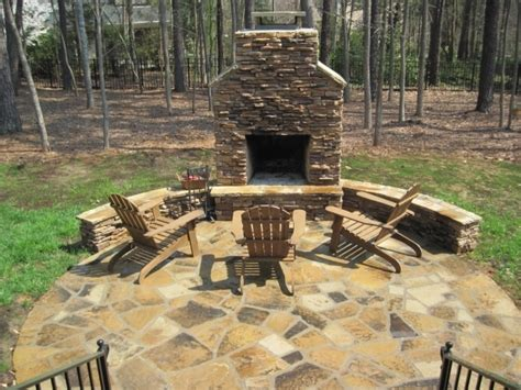 outdoor pit with chimney pit ideas
