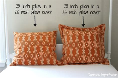 How Big Is A European Pillow by Sewing A Sham Pillow With Flanges Domestic Imperfection