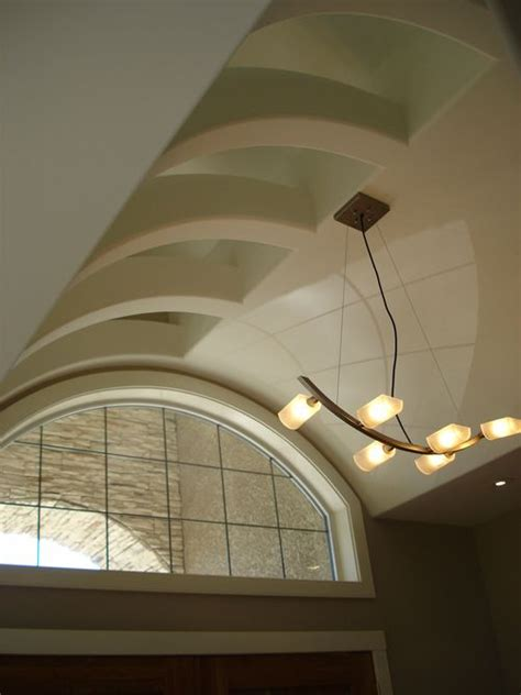 ribbed vault ceiling with up lighting above work