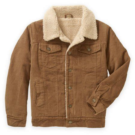 Fleece Lined Corduroy Jacket bocini boys sherpa faux fleece lined corduroy trucker