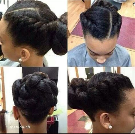 flat twist in a bun flat twists and twisted bun a natural hair style