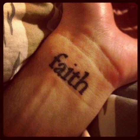 faith wrist tattoo wrist faith www imgkid the image kid
