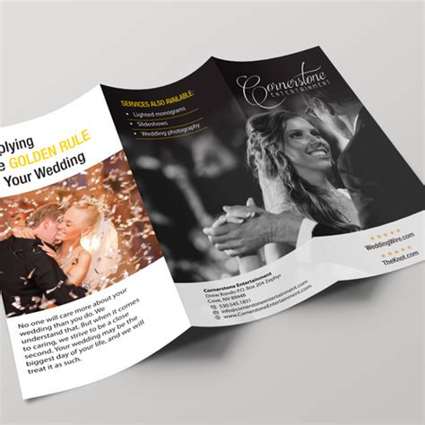 Wedding Dj Brochure by Wedding Dj Photo Booth Business Needs Brochures