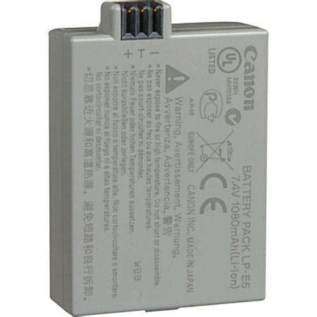 Battery Canon Lp E5 Original Berkualitas canon lp e5 battery pack for eos rebel xsi 3039b001