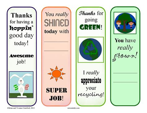 printable reward bookmarks april reward bookmarks mixminder