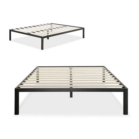 metal bed frame with mattress zinus modern studio 14 inch platform 1500 metal bed frame