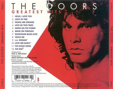 3 Doors Top Hits by The Doors Greatest Hits Back Flickr Photo