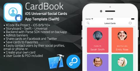 ios card template cardbook ios universal card app template