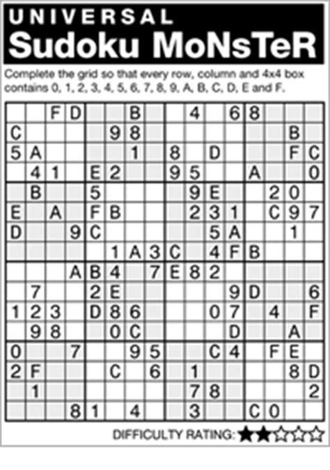 printable monster sudoku 16x16 search results for 16x16sudoku calendar 2015