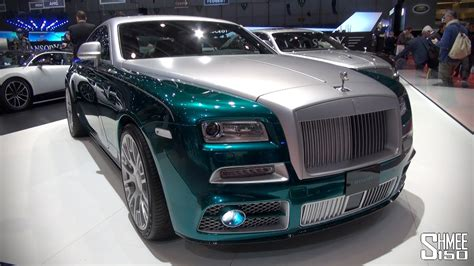 roll royce green look mansory rolls royce wraith
