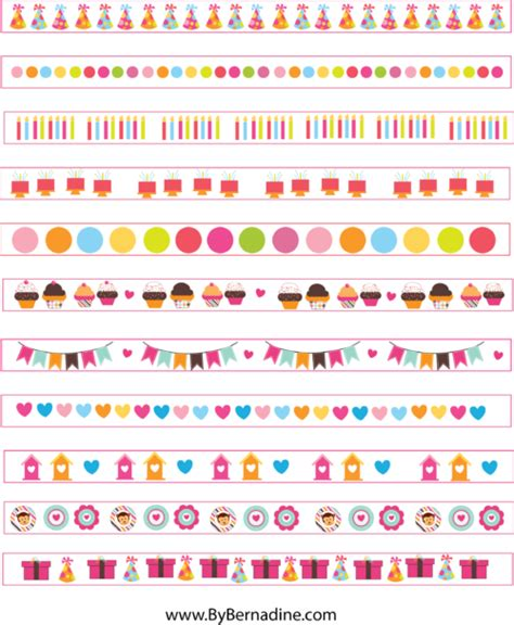cute planner stickers free printable free cute printable washi tape planner stickers by bernadine