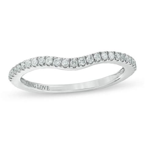 Wedding Bands Vera Wang by Vera Wang Collection 1 6 Ct T W Contour