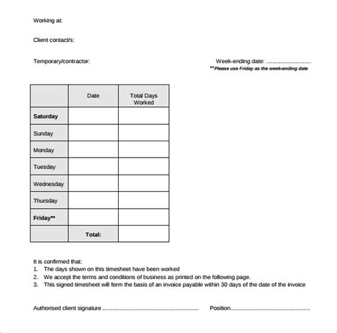 download timesheet invoice template free download