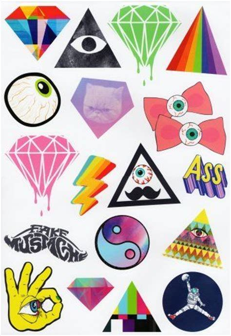 printable hipster stickers harajuku sky 17 hipster stickers set for skateboards