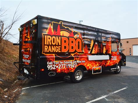 bbq food truck design food truck wraps graphics creative color minneapolis