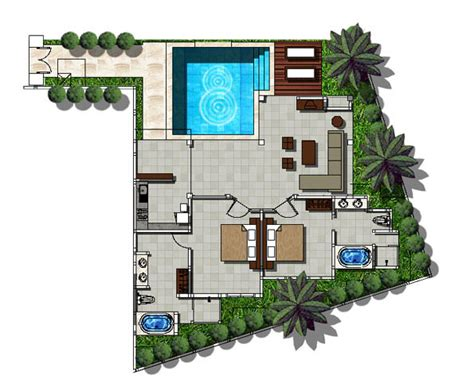 layout design of villa the ahimsa beach jimbaran bali photo gallery