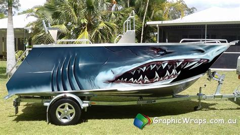 boat decals and wraps monster shark boat wrap illustrated graphic lanchas