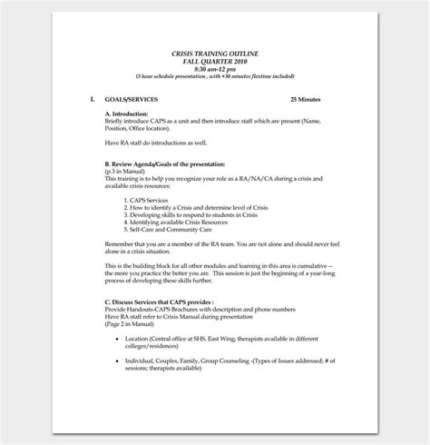 Uvic Mba Review by Course Outline Template 24 Free For Word Pdf
