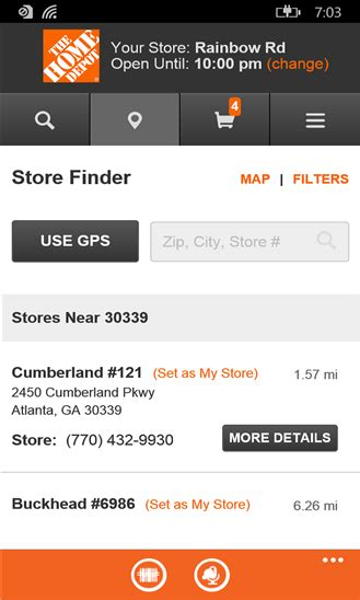 the updated home depot app brings you an enhanced shopping