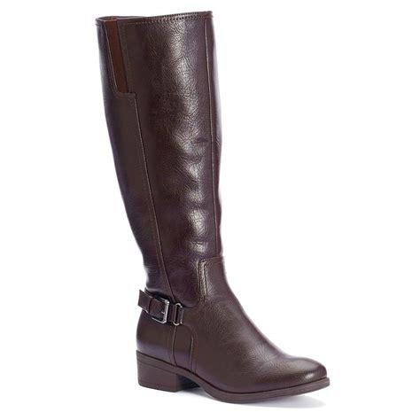 womens croft barrow wide calf tall riding boots knee