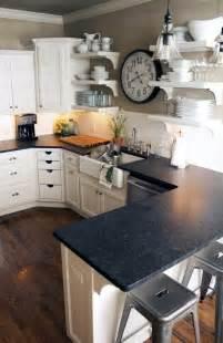 White Kitchen Cabinets With Black Granite Countertops Images Kitchen Kitchen Backsplash Ideas Black Granite Countertops White Cabinets Popular In Spaces