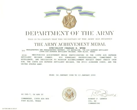 army certificate of template army certificate of template