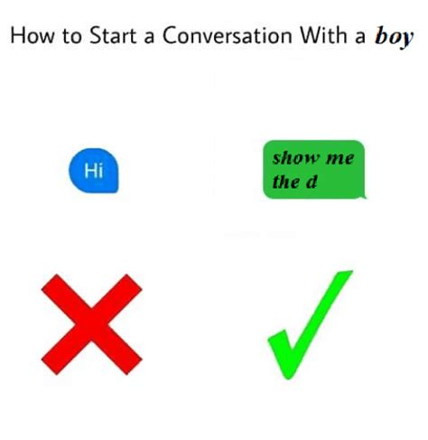 how to start a conversation with a boy show me hi the d