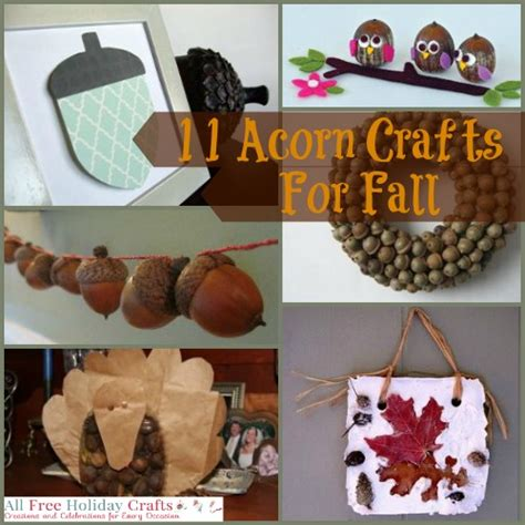 acorn crafts for 11 acorn crafts for fall allfreeholidaycrafts