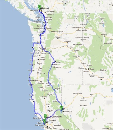 san francisco vancouver map a journey to baghdad by the bay wine country and the