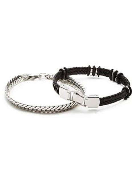 Guess Loop Black Silver max silver tone bracelet set guess