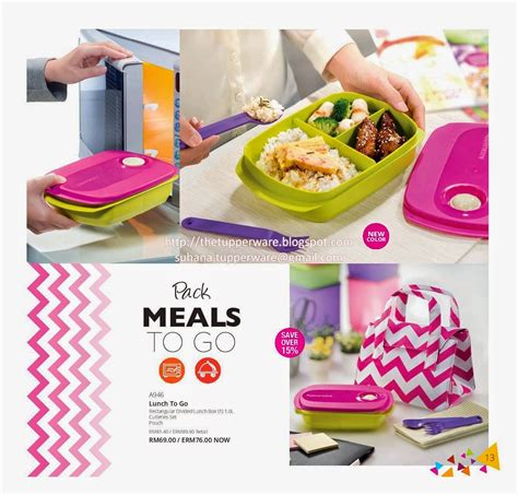 Harga Lunch Box by Tupperware Malaysia Snack On The Go Lunch Set Update