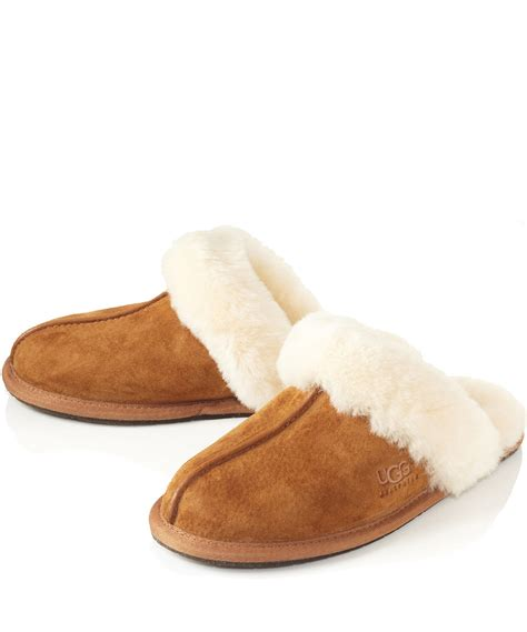 ugg shoes ugg chestnut schuffette ii sheepskin slippers in brown