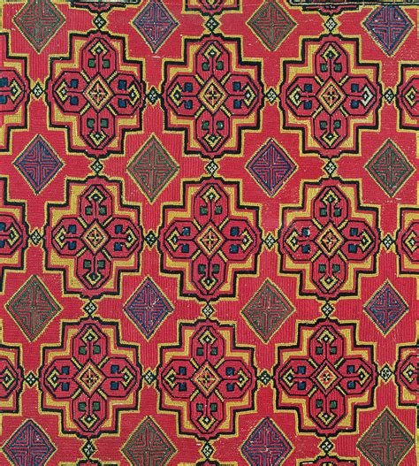 Pattern Textile Artist | textile with geometric pattern painting by moroccan school