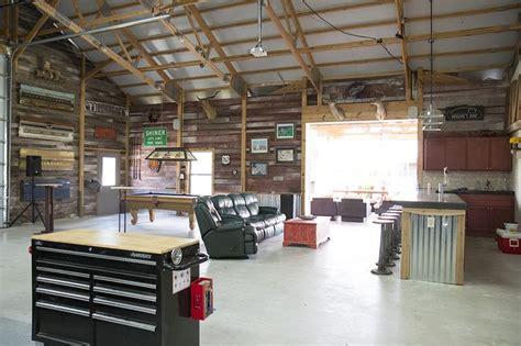 Garage Hobbies For morton buildings hobby garage interior in cypress