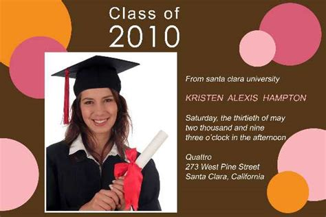 free photo templates graduation announcement