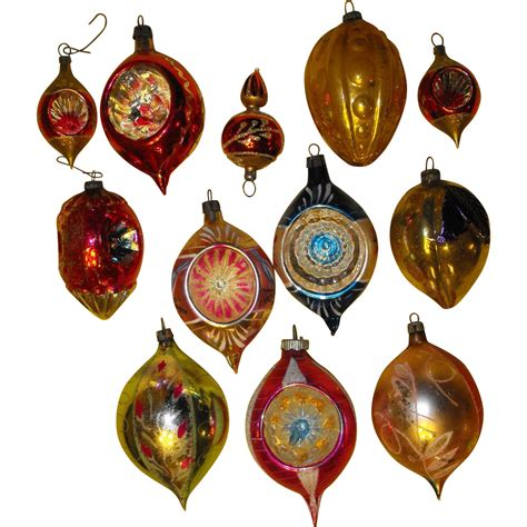 dozen vintage glass ornaments poland christmas sold on
