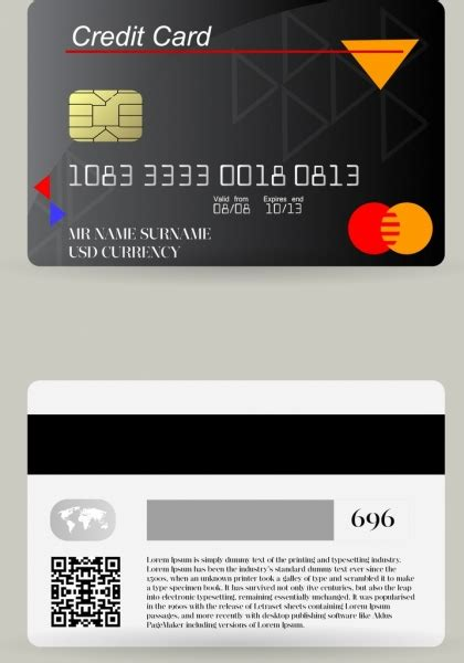 Design Credit Card Template by Credit Card Chip Free Vector 12 785 Free Vector