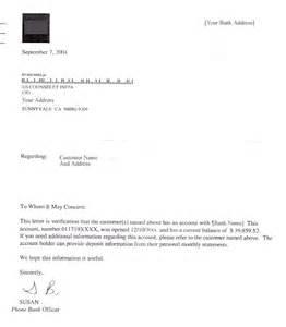 Bank Certification Letter Uk Customer Balance Confirmation Letter Sample Learningall