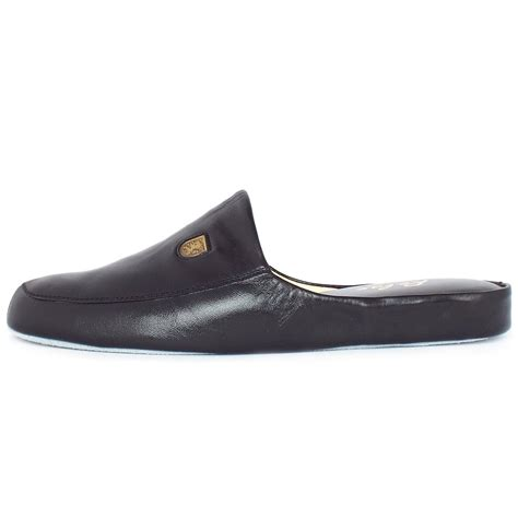black slipper shoes relax slippers williams s luxury black leather